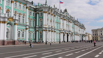 St. Petersburg. Panorama of The State Museum Hermitage