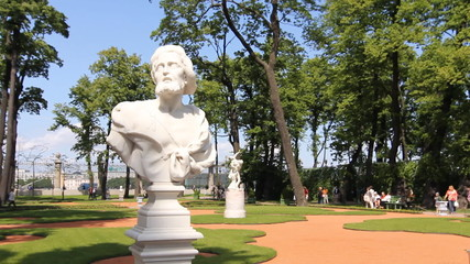 St. Petersburg. Allegorical sculpture in Summer Garden