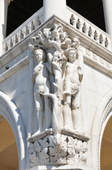 Doge's palace architectural detail (Venice, Italy)