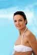 Woman in a white bikini