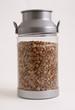 .bottle with lentils