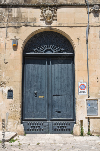 Leinwanddruck Bild Historical palace. Martano. Puglia. Italy.