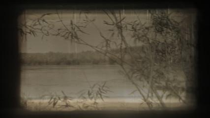 Macro shot of actual film projector gate.