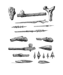 Stone Age Weapons - Armes - Waffen