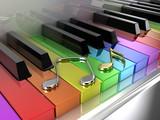 Fototapety The rainbow piano