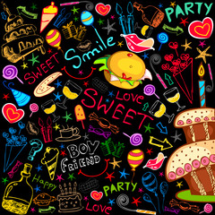Colorful Food Party