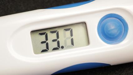Medical digital thermometer takes temperature