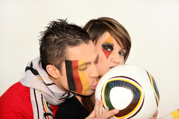couple of German football fans
