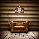 Fototapeta drewno - fotel - Wnętrze