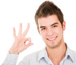 Man doing an ok sign