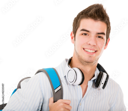 Casual student with headphones