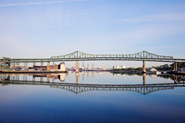 Tobin Memorial Bridge or Mystic River Bridge in Boston