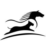 Horse and dog racing logo vector
