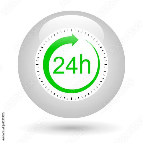 Leinwandbild Motiv Bouton icône 24 heures