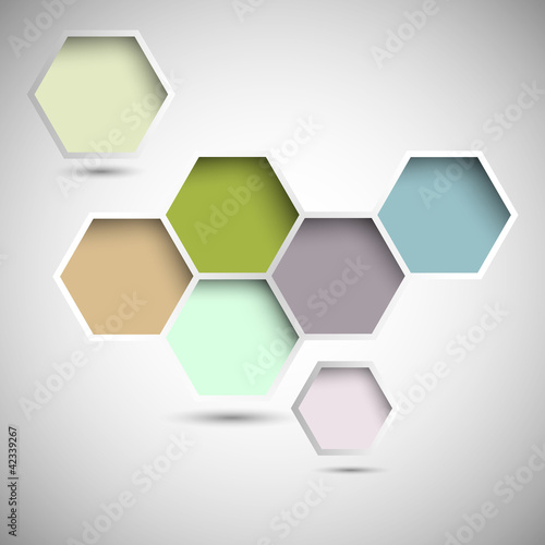Abstract new design hexagons