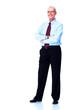 Mature executive businessman.