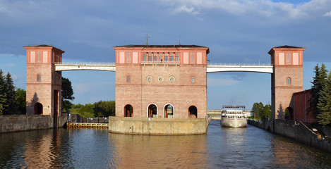 Sluice Gates on the River Volga, Russia