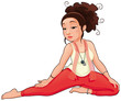 Yoga Position. Vector isolated illustration.