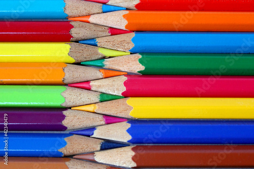 Color pencils pattern