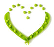 Heart shaped peas