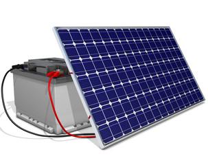 Batterie mit Solarzelle