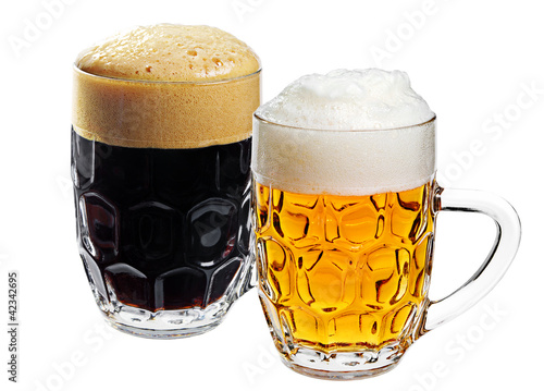 Two glass of beer