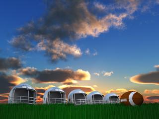 Football Helmet Composition