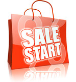 Shopping Bag Collection: SALE START red