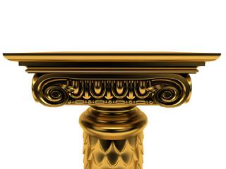 Colonna Capitello Piedistallo Oro Espositore
