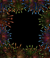 fireworks night frame color