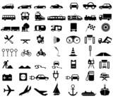 Fototapety Silhouetten Verkehrsmittel