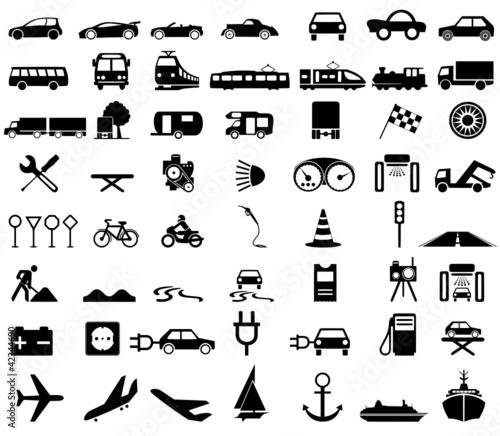 Silhouetten Verkehrsmittel