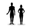 Homme et femme cote à cote