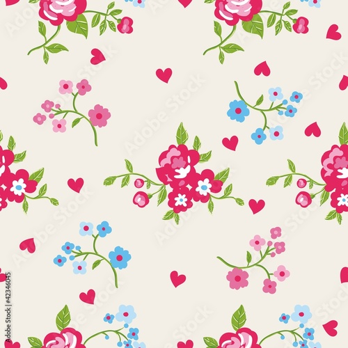 Seamless peony wallpaper pattern. Vector background
