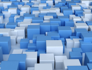 Abstract digital 3d blocks background