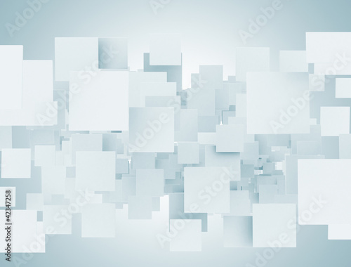 Blank abstract 3d squares