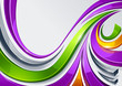 Vector abstract background with beautiful wave shapes.