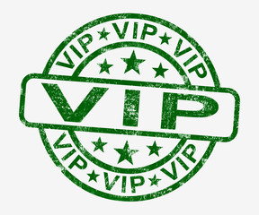 VIP Stamp Showing Celebrity Or Millionaire