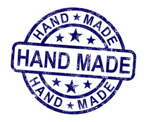 Hand Made Stamp Shows Original Handmade Artwork
