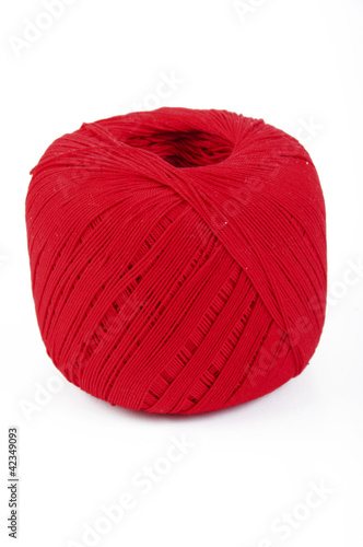 red cotton thread