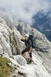 mountaineer under Civetta walls - Dolomite - Italy