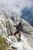 mountaineer under Civetta walls - Dolomite - Italy