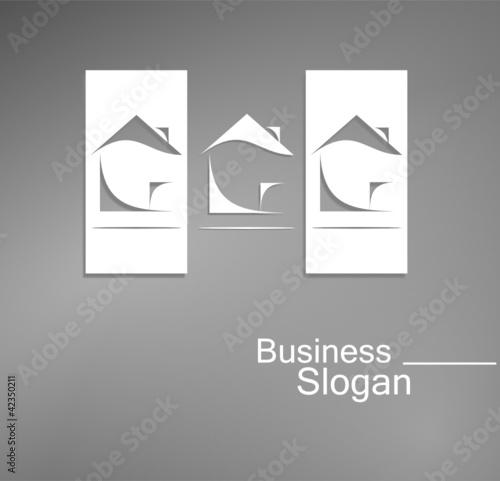 logo architecture design noir et blanc