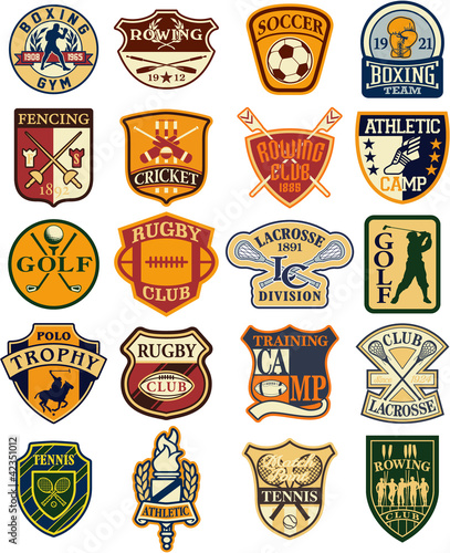 Classic sports vector badges
