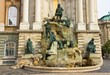 Fountain at Royal Palace in Budapest, Hungary