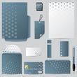 Business vector set with hexagon design