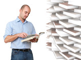 man and book