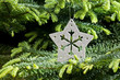 Silver Christmas ornament