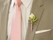 Ansteckblume am Reverse des Bräutigams