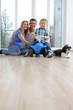 Glückliches Familienleben